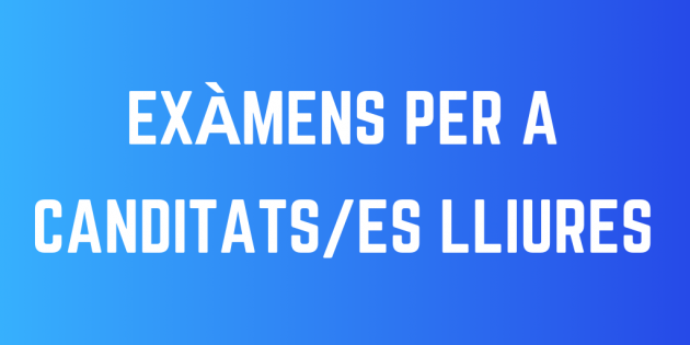 EXÁMENES PARA CANDIDATOS/AS LIBRES